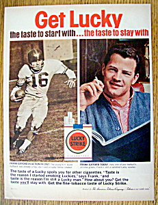 1962 Lucky Strike Cigarettes w/Football's Frank Gifford (Image1)