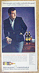 Vintage Ad: 1965 Heublein Cocktails w/ Gig Young (Image1)