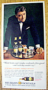 Vintage Ad: 1965 Heublein Cocktails With Peter Lawford