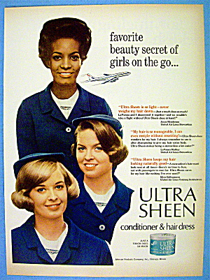 1966 Ultra Sheen With United Air Lines Stewardesses