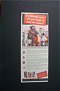 1940 Dentyne Chewing Gum w/Goldilocks & 3 Bears (Image1)
