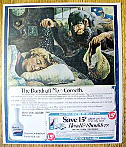 Vintage Ad: 1974 Head & Shoulders Dandruff Shampoo (Image1)