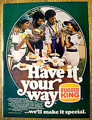 1976 Burger King with Family That Have's It Your Way (Image1)