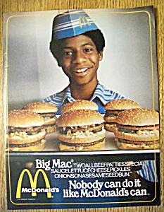 1979 Mc Donald's Restaurant w/Boy & Tray of Hamburgers (Image1)