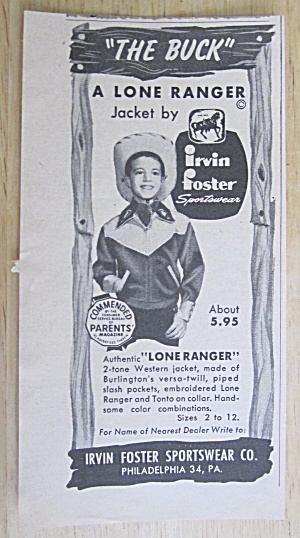 1950 Lone Ranger Jacket with Boy Wearing The Buck (Image1)
