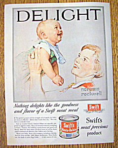 Vintage Ad: 1955 Swift Meat For Babies By N. Rockwell