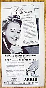 Vintage Ad: 1945 Arrid Deodorant With Grace Moore