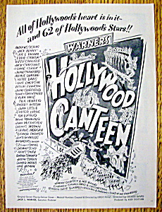 Vintage Ad: 1945 Hollywood Canteen