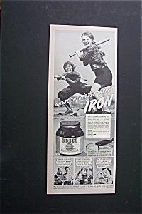 1940 Bosco Milk Amplifier w/Girl Holding a Baseball Bat (Image1)