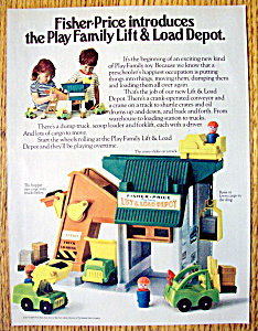 1977 Fisher Price Play Family Lift & Load W/children