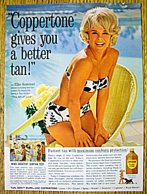 1965 Coppertone Suntan Lotion with Elke Sommer (Image1)