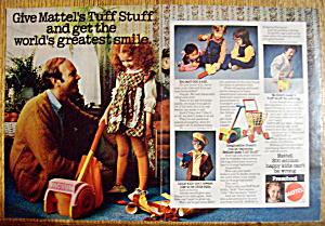 Vintage Ad: 1975 Mattel Tuff Stuff Preschool Toys (Image1)