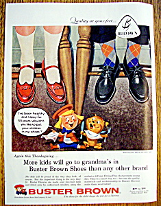 Vintage Ad: 1957 Buster Brown Shoes (Image1)