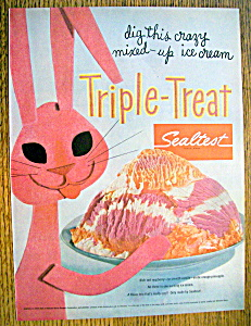 Vintage Ad: 1955 Sealtest Triple Treat Ice Cream