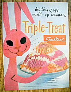 Vintage Ad: 1955 Sealtest Triple Treat Ice Cream (Image1)