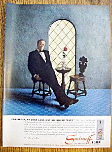 Vintage Ad: 1957 Smirnoff Vodka w/ Cyril Ritchard (Image1)