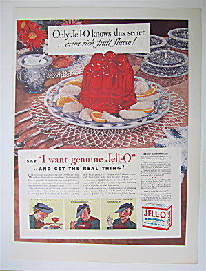 1936 Jell-o Gelatin Dessert With Woman Eating Jell-o