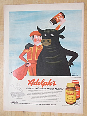1954 Adolph's Meat Tenderizer with Matador & His Bull  (Image1)