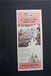 1940 Johnnie Walker Red Whiskey W/men Sitting & Talking