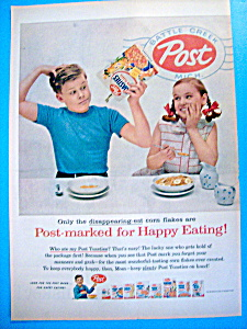 Vintage Ad: 1954 Post Toasties Cereal