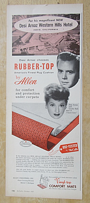 Vintage Ad: 1957 Allen Rubber-top With Lucille Ball