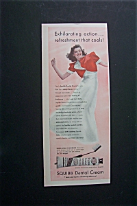 1940 Squibb Dental Cream with Woman in Lovely Dress (Image1)