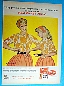 Vintage Ad: 1959 Post Grape Nuts Cereal By Dick Sargent (Image1)
