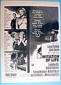 Vintage Ad: 1959 Imitation Of Life with Lana Turner (Image1)