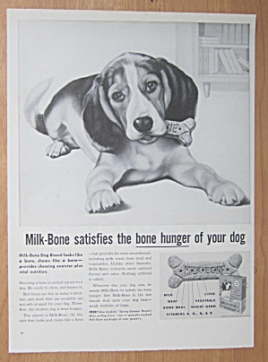 1959 Milk Bone Dog Biscuits with a Dog Chewing a Bone (Image1)