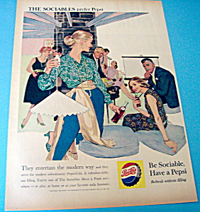 1959 Pepsi-cola (Pepsi) With People Being Sociable