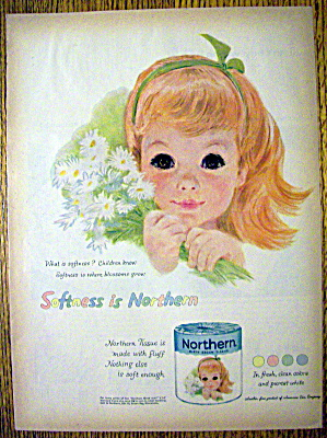 1959 Northern Toilet Tissue with Little Red Haired Girl (Image1)