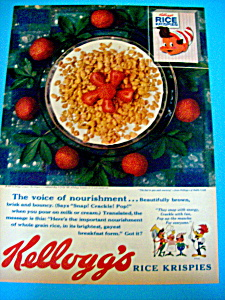 1959 Kelloggs Rice Krispies Cereal With Strawberries