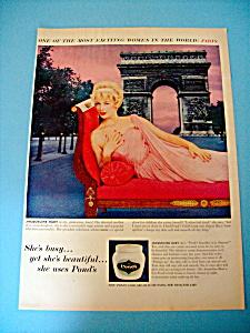 Vintage Ad: 1960 Pond's Cold Cream w/ Jacqueline Huet (Image1)