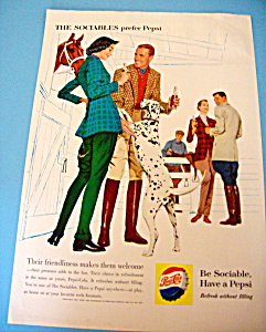 1960 Pepsi-Cola (Pepsi) with Group of People by Stables (Image1)