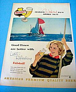 Vintage Ad: 1960 Falstaff Beer (Image1)