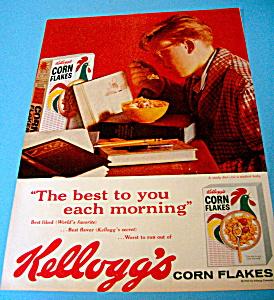 Vintage Ad: 1960 Kelloggs Corn Flakes (Image1)