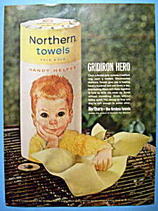 1962 Northern Towels with Boy Wiping The Grill  (Image1)