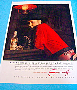 Vintage Ad: 1962 Smirnoff Vodka with George Goebel (Image1)