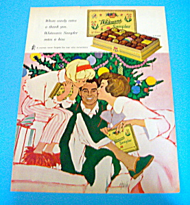 1962 Whitman's Sampler Chocolates W/wife & Daughter