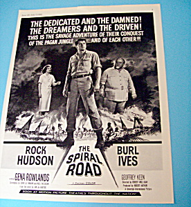 Vintage Ad: 1962 The Spiral Road With Rock Hudson