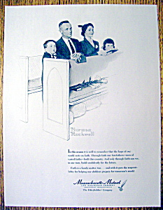 Vintage Ad:1963 Massachusetts Mutual By Norman Rockwell