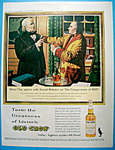 Vintage Ad: 1963 Old Crow Whiskey Bourbon