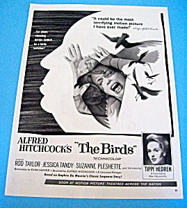 1963 Alfred Hitchcock The Birds W/ The Birds Attacking