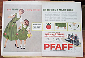 1954 Pfaff Dial A Stitch with Mom & Daughter  (Image1)
