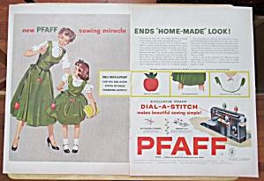 Vintage Ad: 1954 Pfaff Dial A Stitch (Image1)