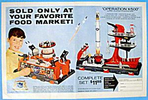 Vintage Ad: 1960 Operation X-500 Rocket Launcher & Base (Image1)