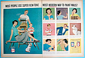 1959 Super Kem Tone Paint With Family Painting