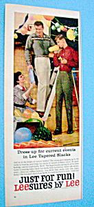 Vintage Ad: 1960 LeeSures By Lee (Image1)