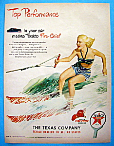 1948 Texaco Dealers With Woman Water Skiing