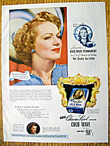 Vintage Ad: 1946 Charm Kurl Cold Wave W/m. O' Driscoll